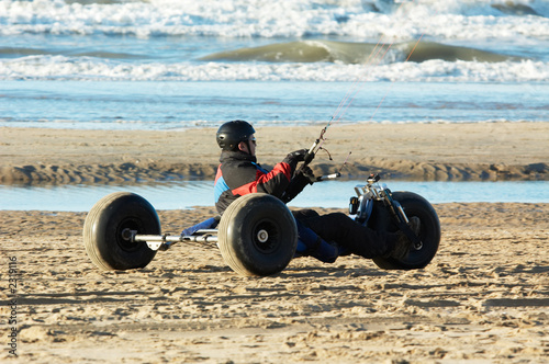 kite buggy on the beach