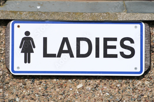ladies sign, outside a ladies toilets.