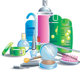 cosmetics and beauty products poster