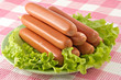 appetizing pork sausages