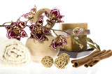 oriental batch. orchid, cinnamon and natural soaps poster