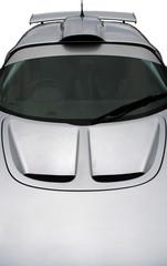 silver sportscar