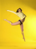 fit girl jumping positively poster