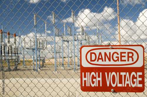 poster of high voltage sign