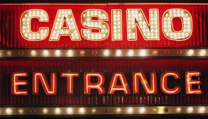 neon casino entrance sign