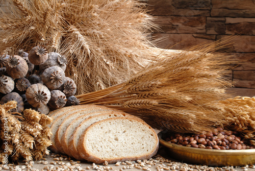 canvas print picture bread