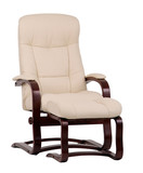 brown and beige leather recliner poster