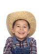 boy in cowboy hat and overalls 3