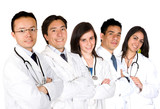 confident doctors team poster