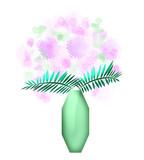 pastel flower bouquet art poster