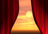 red theater curtains poster