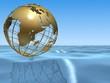globus auf dem ozean