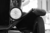 retro automobile headlight poster
