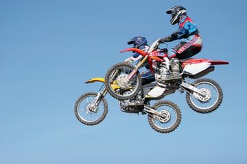 dirt bikes in the air