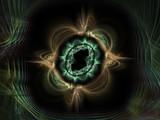 evil 3d eye poster