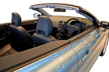 light blue convertible
