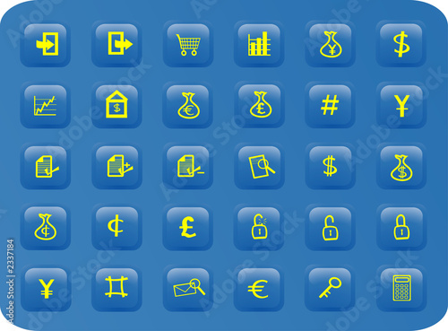 business and finance web buttons