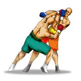 boxing left hook poster