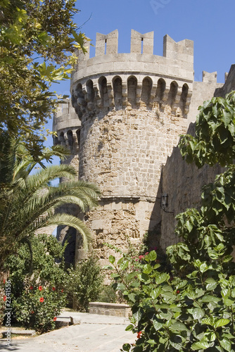 tower in rodos castle