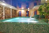 sauna pool poster