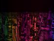 Quadro mixture colour city background
