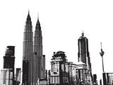 Fototapety black and white city background