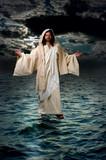 jesus walking on the water poster