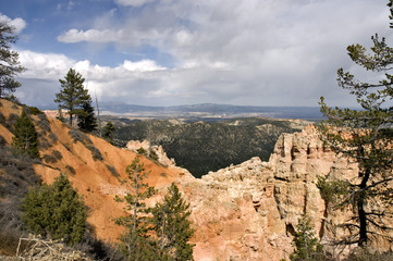 cloudy bryce canyon