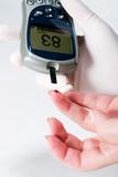 glucose level blood test poster
