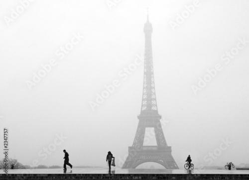 Naklejka Paris Tour Eiffel sous la neige