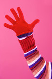 colorful sweater and glove poster