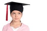 girl in graduation cap poster