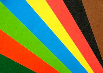 paper rainbow fan