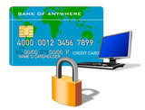 secure credit card payment online poster
