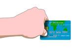 hand swiping credit card poster