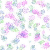pastel flowers gift wrapping poster