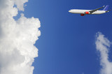 airplane, airliner high above the clouds poster