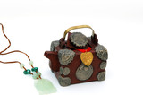 treasure chest teapot and jade necklace poster