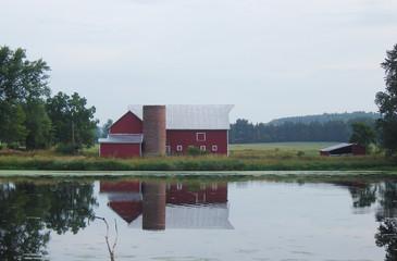 barn by the lake