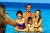 famiglia al mare poster