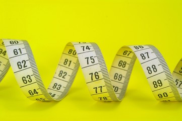 measuring tap on yellow
