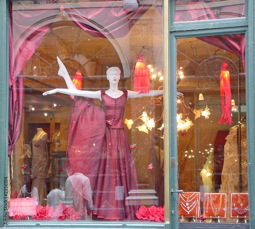 vitrine rouge