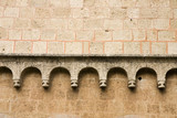 romanesque wall detail poster