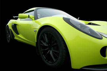 bright green sportscar