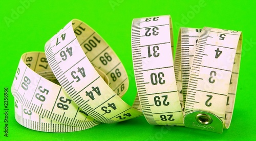 measuring tape on green