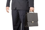 businessman carrying a case poster