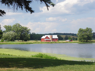 barn by the lake