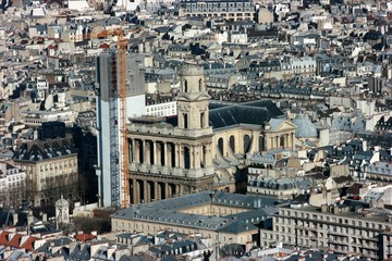 aerial view of saint-suplice church, paris