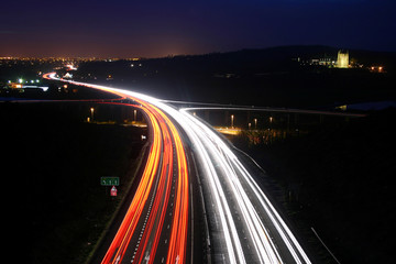 traffic at night.