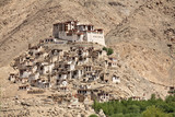 buddhist monastery in the himalayas poster